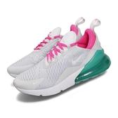 Nike 慢跑鞋 Wmns Air Max 270 灰 粉紅 綠 大氣墊 舒適緩震 運動鞋 女鞋【PUMP306】 AH6789-065