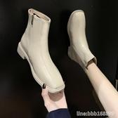 短靴 切爾西靴子女秋款百搭瘦瘦鞋新款網紅馬丁靴英倫風ins短靴潮 城市科技