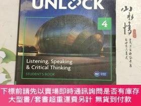 二手書博民逛書店劍橋初中教材罕見Unlock Level 4 Listening, SpeakingY268220 Lewis