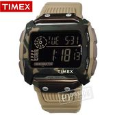 TIMEX 天美時 / TXTW5M20600 / 迷彩 遠征系列 極限運動 INDIGLO專利夜光 電子橡膠手錶 黑x軍綠框x卡其 54mm