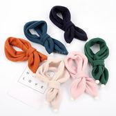 雪球純色保暖圍巾 兒童圍巾 保暖圍巾 磨毛圍巾