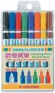 【奇奇文具】雄獅 SIMBALION NO.608 8色組油性奇異筆/簽字筆