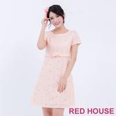 【RED HOUSE 蕾赫斯】花朵蕾絲蝴蝶結洋裝(共2色)-單一特價