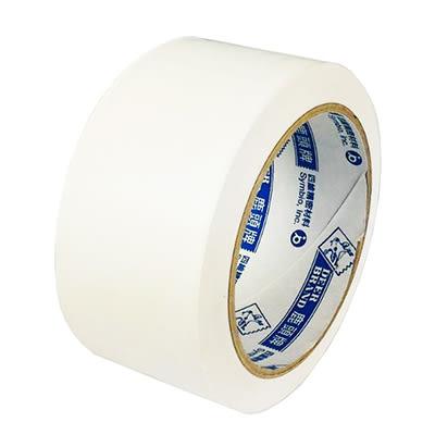 四維/鹿頭牌 2吋白色PVC可手撕布紋膠帶48mmx27Y