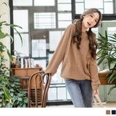 《AB5945》小花刺繡羅紋領邊絨毛圈大學T衛衣上衣 OrangeBear