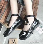 春夏款淺口單鞋洛麗塔英倫學生可愛平底繫帶休閒女鞋學院風小皮鞋 可可鞋櫃