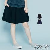 .HL超大尺碼.【20060002】自然墜感舒適修身褲裙 2色