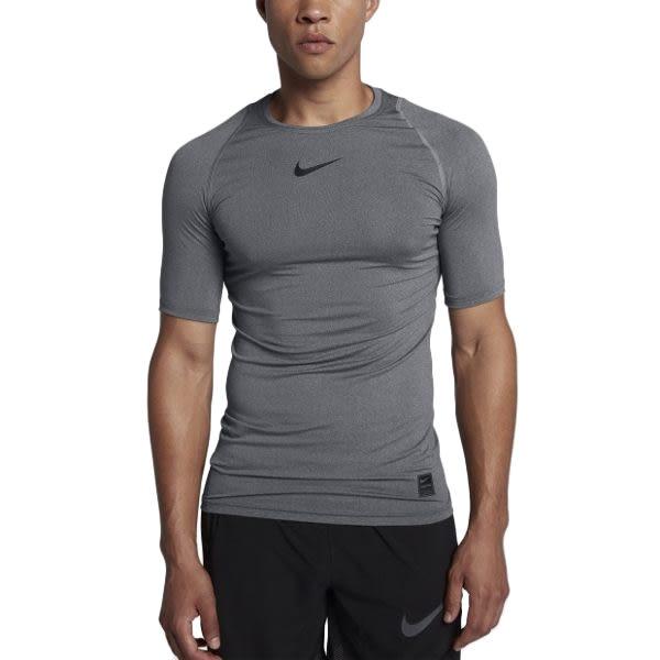 Nike Pro 男 灰 緊身衣 壓縮上衣 短袖 短tee 運動內搭上衣 Dri-FIT 透氣 排汗 訓練 快乾 838092091