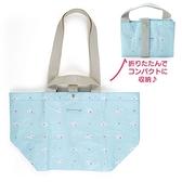 小禮堂 大耳狗 船形扣式防水購物袋 環保購物袋 防水側背袋 手提袋 (藍 滿版) 4550337-50313