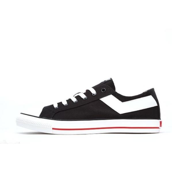 PONY男款基本款帆布鞋 黑色 91M1SH02BK