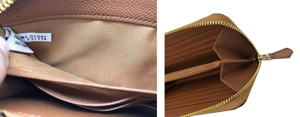 ~雪黛屋~COACH 長夾+匙國際正版保證進口防水防刮皮革U型拉鍊包覆主袋品證購證塵套提袋等10-15日