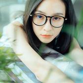 ASLLY濾藍光眼鏡-歐若拉的黎明曙光/經典必備圓框黑色粗框眼鏡