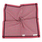 Calvin Klein 交錯格紋紳士純綿帕巾(紅色)989091-258