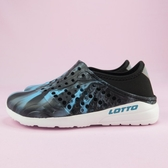 【iSport 愛運動】LOTTO 潮流洞洞鞋 輕量 懶人鞋 LT9AKS0380 大童 迷彩黑藍