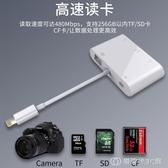 多合一蘋果讀卡器手機otg多功能單反相機套件SD/TF/CF卡U盤內存卡 創時代3c館