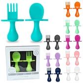 Grabease 奶嘴匙叉組 湯叉組 附收納袋 學習湯匙 叉子 嬰兒叉匙組 學習餐具 7605