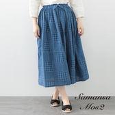 ❖ Hot item ❖ 鬆緊腰綁帶拼接色塊長裙 (提醒➯SM2僅單一尺寸) - Sm2