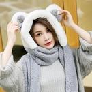 帽子女秋冬休閑百搭秋季韓版甜美可愛潮流秋天兒童圍巾手套三件套