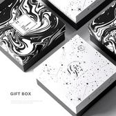 黑白色生日禮物禮品盒