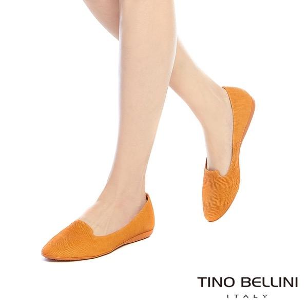 Tino Bellini巴西進口石頭壓紋舒足樂福鞋_ 藍 A73008 歐洲進口款