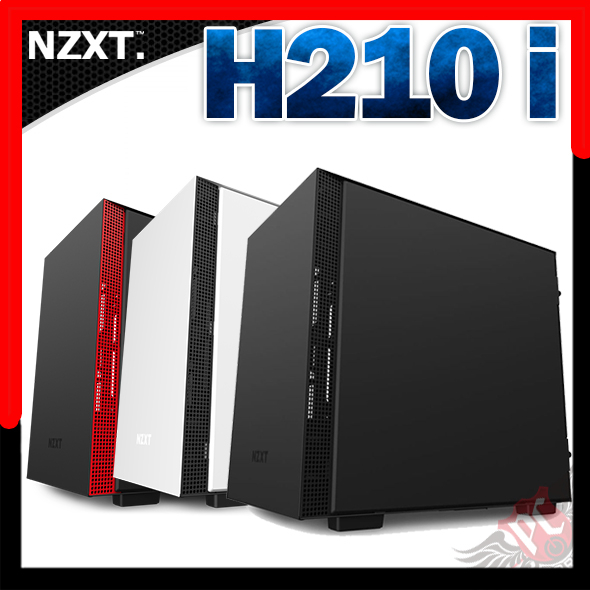 [ PC PARTY  ]   恩傑 NZXT H210I 強化玻璃電腦機殼 白 黑 紅