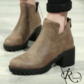 韓系雜誌款復古麂皮中跟短靴/3色/35-41碼 (RX0162-C37-1) iRurus 路絲時尚