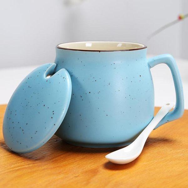 陶瓷杯子馬克杯帶蓋勺創意情侶早餐杯牛奶杯logo定制咖啡杯大水杯·皇者榮耀3C