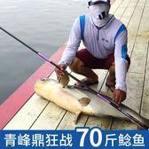 釣魚竿 漢鼎魚竿手竿超輕超硬19調台釣魚竿碳素黑坑魚竿黑棍鯉羅非竿釣魚竿  DF  二度3C