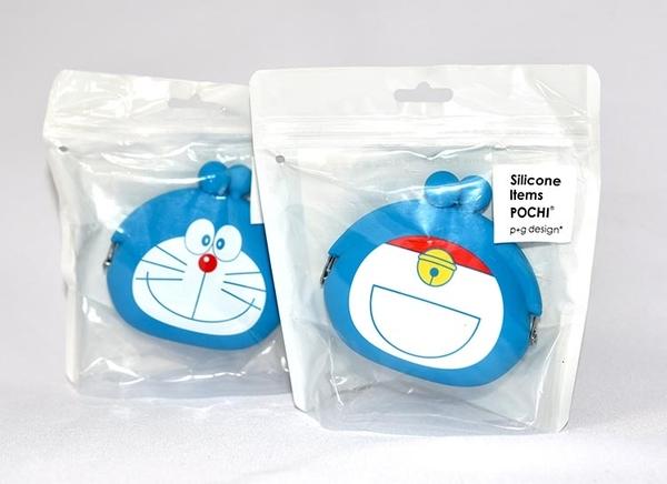 哆啦A夢 造型 矽膠零錢包 mimi POCHI 日本正版 doraemon
