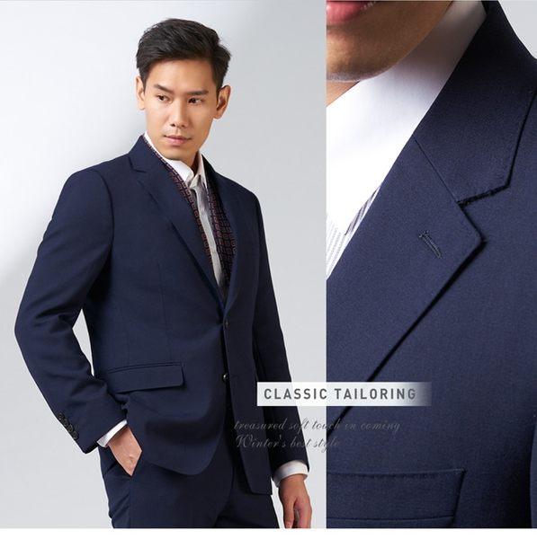 極品西服 英倫經典紳士羊毛西裝外套_藍 (AW705-3G)