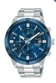 ALBA雅柏 三眼計時錶 AM3753X1 VD57-X174B藍面 男錶