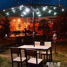 戶外遮陽傘露台桌椅太陽能LED燈庭院陽台大號花園羅馬傘室外休閒QM『新佰數位屋』