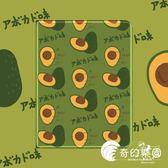 保護套-newipad保護套mini1234蘋果pro10.5殼air12墨綠ins日系-奇幻樂園
