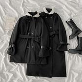 毛呢大衣 閨蜜裝毛呢外套新款女裝韓版不跑棉立領寬松呢子大衣潮 優拓