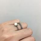 [現貨] 白色雙麻花戒指2件組 MISJ2417 戒指 手飾 配件