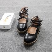 日系娃娃鞋學生演出鞋小皮鞋森女系搭扣小清新平底可愛圓頭舞蹈鞋 瑪麗蘇