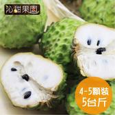 沁甜果園SSN.台東鳳梨釋迦(4-5顆裝,5台斤)﹍愛食網