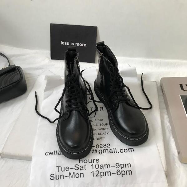 小sun家 韓版ins大熱英倫復古機車chic馬丁靴女鞋單靴春新款 沸點奇跡