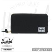 Herschel 皮夾 長夾 全拉鍊長夾 可放手機 黑色 Thomas+-001 (新版) 得意時袋