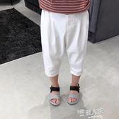 兒童夏裝3-4-5歲男童七分褲 中褲百搭梭織棉料寶寶休閒褲潮  9號潮人館