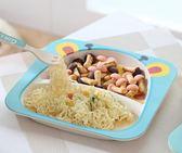 兒童餐盤竹纖維餐具套裝嬰兒輔食飯碗卡通叉勺寶寶餐盤分格   蜜拉貝爾