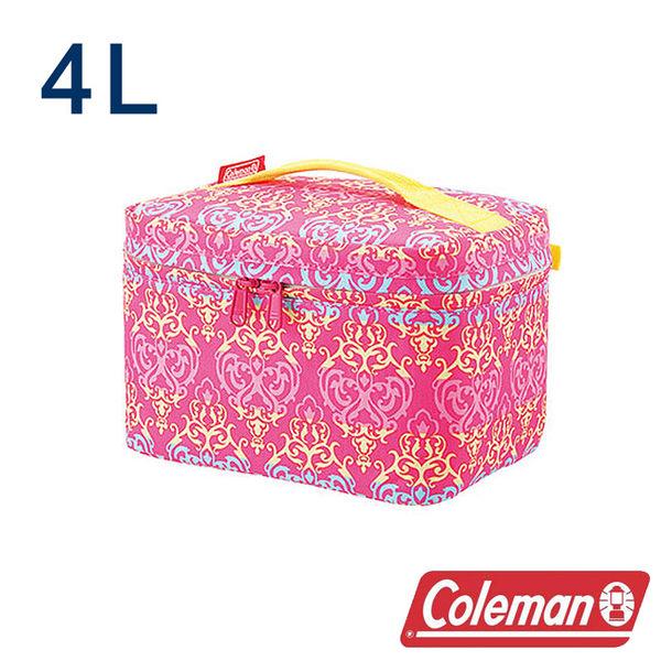 Coleman 4L紅葉圖騰保冷袋 CM-22231 露營│登山│行動冰箱│保冰袋│野餐│便當袋