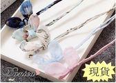 盤髮器  韓國氣質甜美手作雪紡紗蝴蝶結蕾絲兔耳 丸子頭 包包頭 (8色) S7737 批發價 Danica韓系飾品
