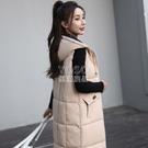 中長款棉馬甲女秋冬季2020新款背心韓版寬鬆加厚羽絨棉衣女外套新年禮物