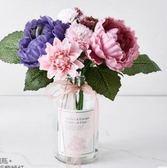 仿真花 擺件小清新假花盆栽客廳花束裝飾塑料花 BF10893『男神港灣』