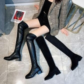 小個子長靴女2020新款春秋單款過膝秋季高筒靴黑色靴子長款騎士靴 夢幻小鎮