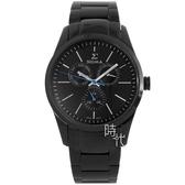 【台南 時代鐘錶 SIGMA】簡約時尚 藍寶石鏡面三眼日期腕錶 9815M-B 黑 42mm 平價實惠的好選擇