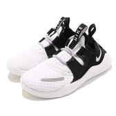 Nike 慢跑鞋 Free RN CMTR 2018 PS 白 黑 襪套式 中童鞋 運動鞋 【PUMP306】 AH3459-001