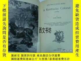 二手書博民逛書店【罕見】1890年英文版 A KENTUCKY COLONEL