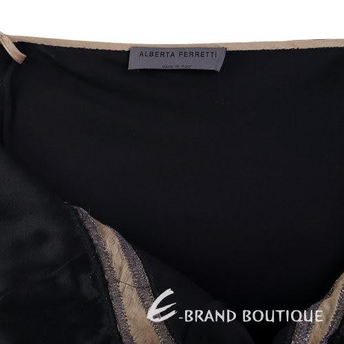 ALBERTA FERRETTI 黑色細肩帶洋裝 0510758-01